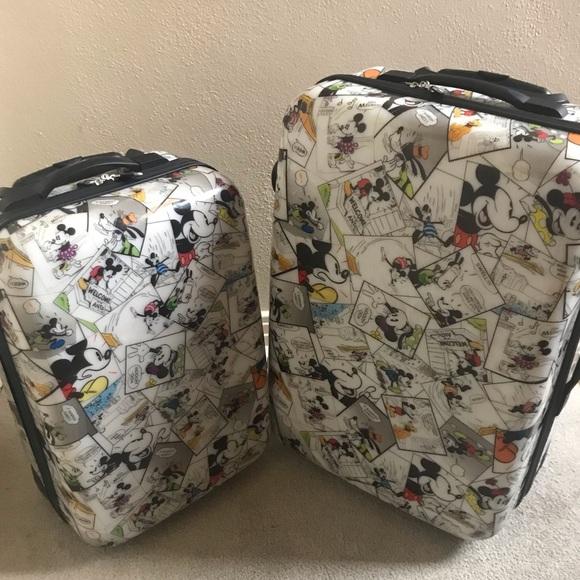 41c2d470708 Handbags - Rare htf Mickey Mouse comic two piece luggage set
